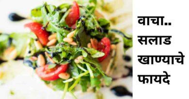सॅलड (Salad) Top 12 Benefits for Health's in Marathi | सलाड खाण्याचे फायदे