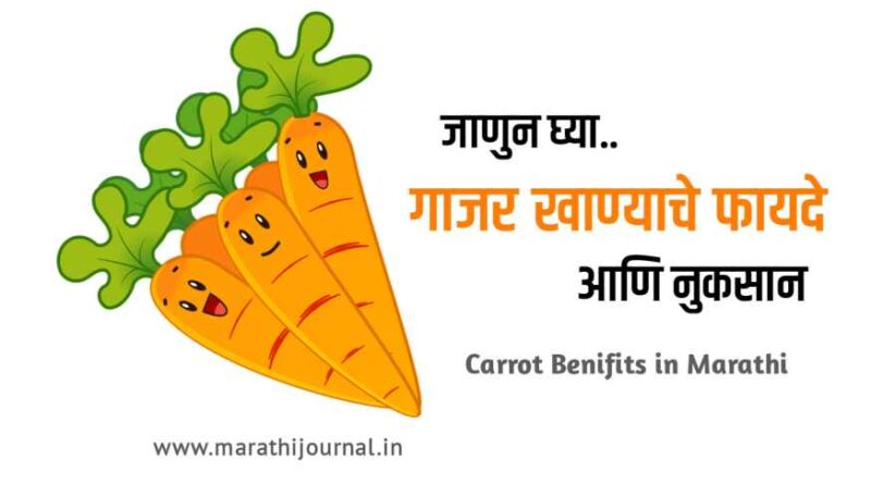 गाजर खाण्याचे फायदे | Carrot Benefits in Marathi